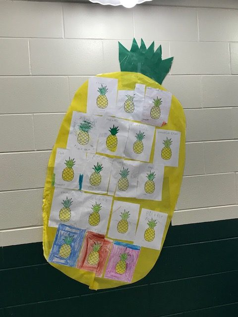 403- Student Pineapple Artwork