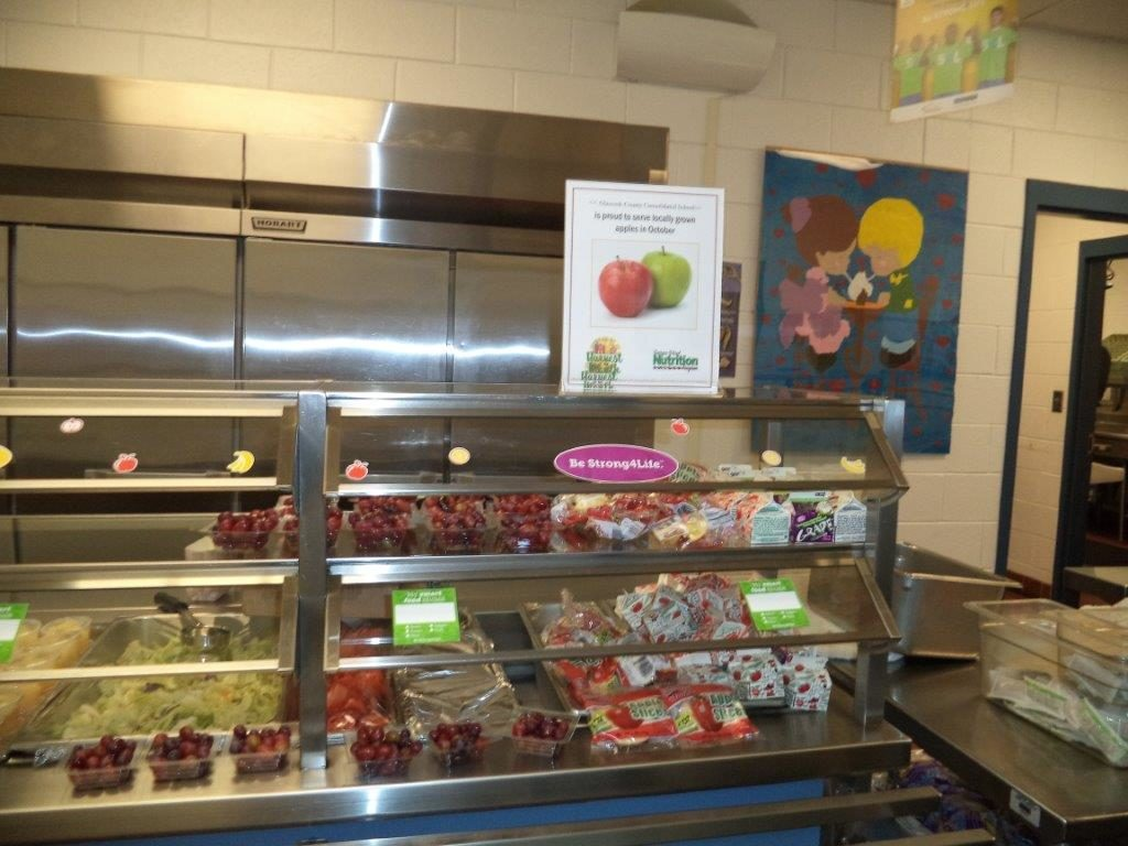 Glascock fruit of the month display