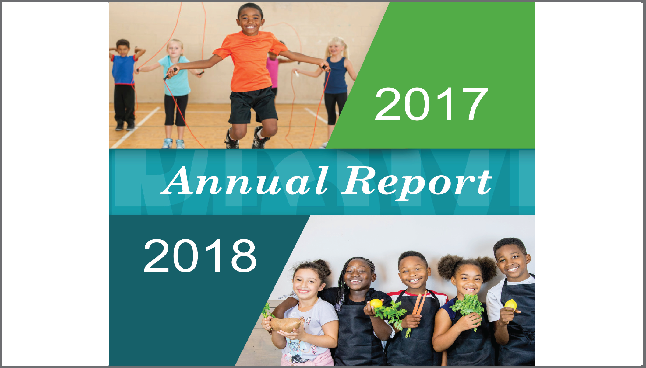 Cover Page from HealthMPowers Annual Report 2017-2018 cropped