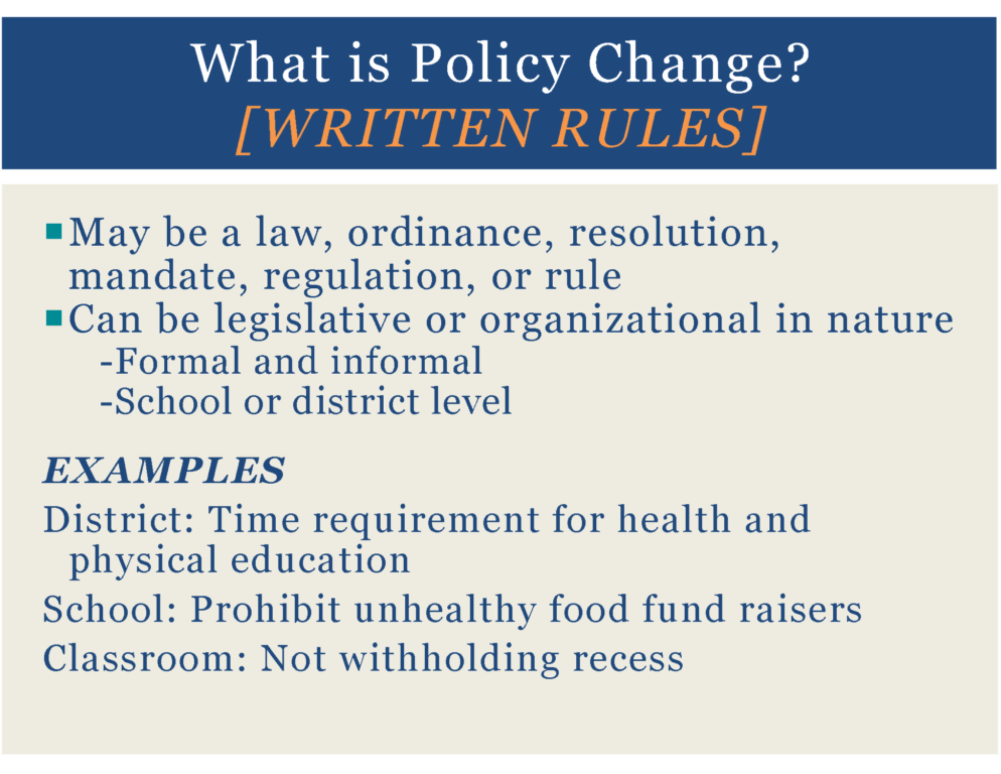 HealthMPowers Program, Policy, Environmental Change Training 5